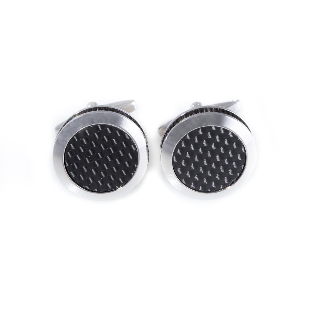 Metal Cufflink in Black/Gray