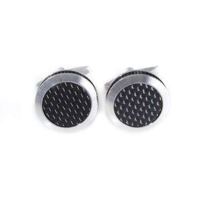 Metal Cufflink in Black/Gray