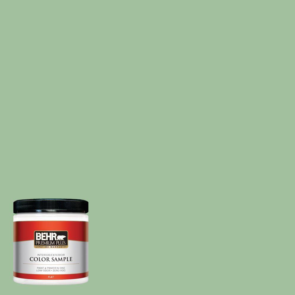 8 oz. #BIC-25 Spring Sprig Interior/Exterior Paint Sample