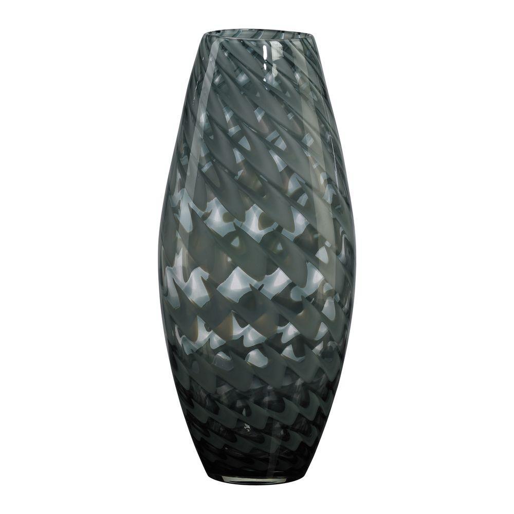 Filament Design Prospect 15 in. x 6.5 in. Acid White And Smoke Vase
