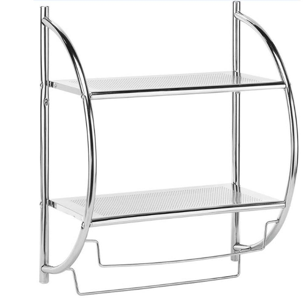 Home Decorators Collection 2-Shelves and Towel Rack in Chrome