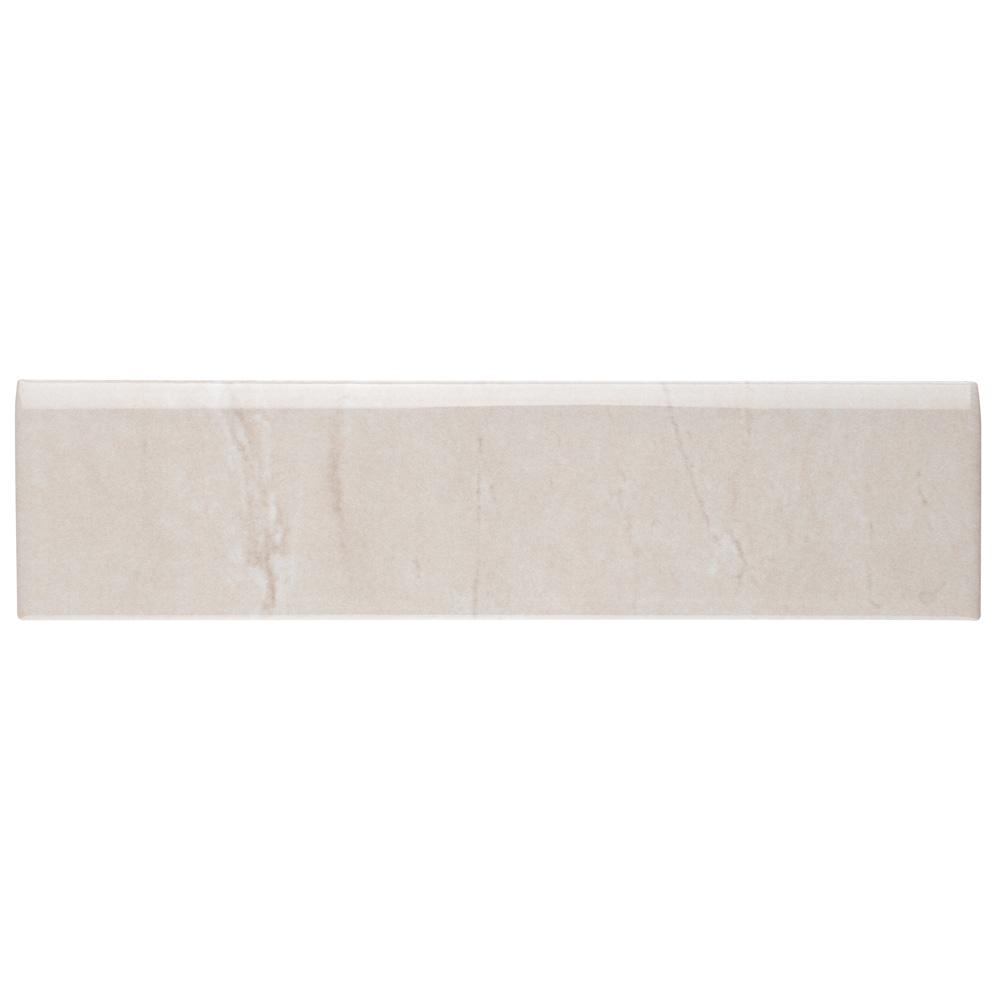 Ferraras Bullnose Base 2 in. x 8 in. Ceramic Wall Trim Tile