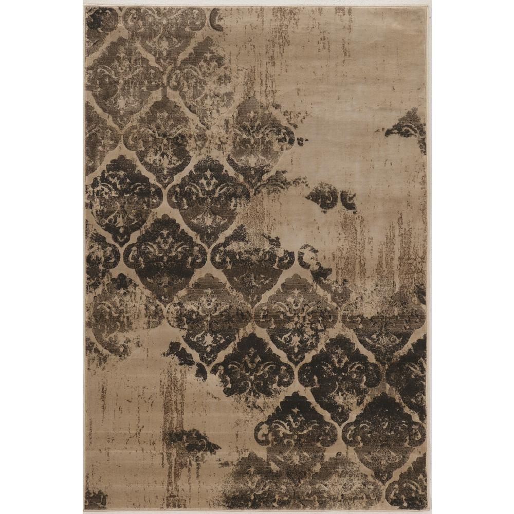 Linon home decor jewell collection vintage b clara beige and gray 2 ft x 3 ft area rug - Vintage home decorating collection ...