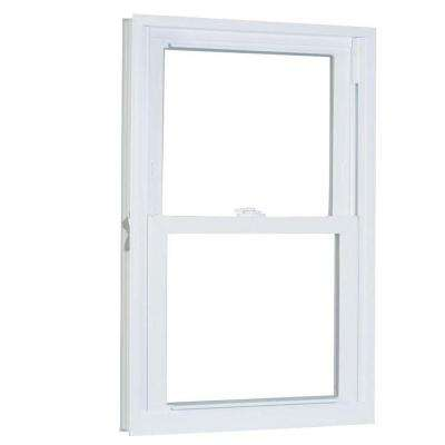 31.75 in. x 53.25 in. 70 Series Pro Double Hung White Vinyl Window with Buck Frame