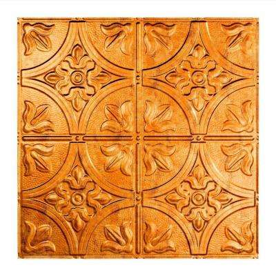 Traditional 2 - 2 ft. x 2 ft. Lay-in Ceiling Tile in Muted Gold