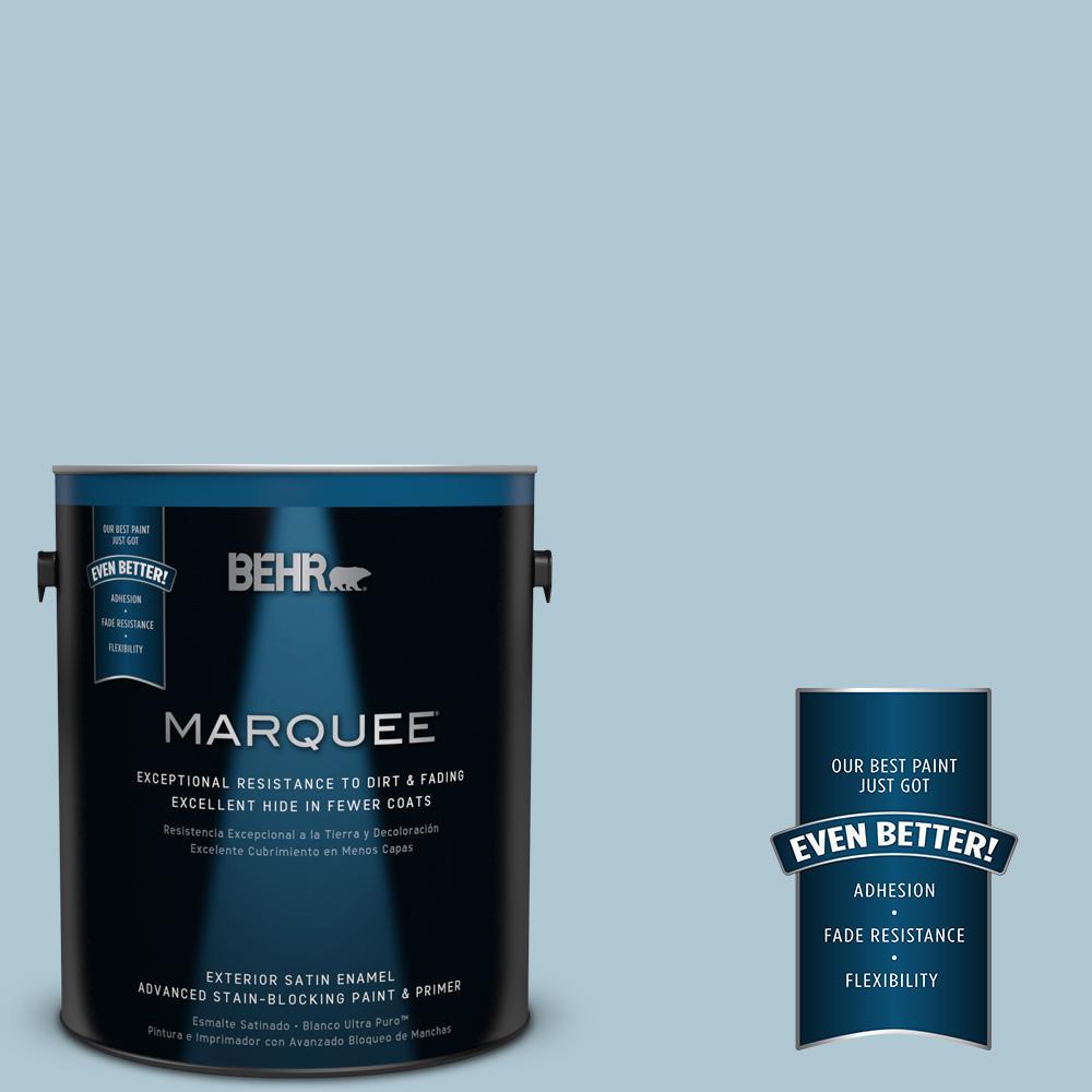 BEHR MARQUEE 1-gal. #S470-2 Gentle Sea Satin Enamel Exterior Paint