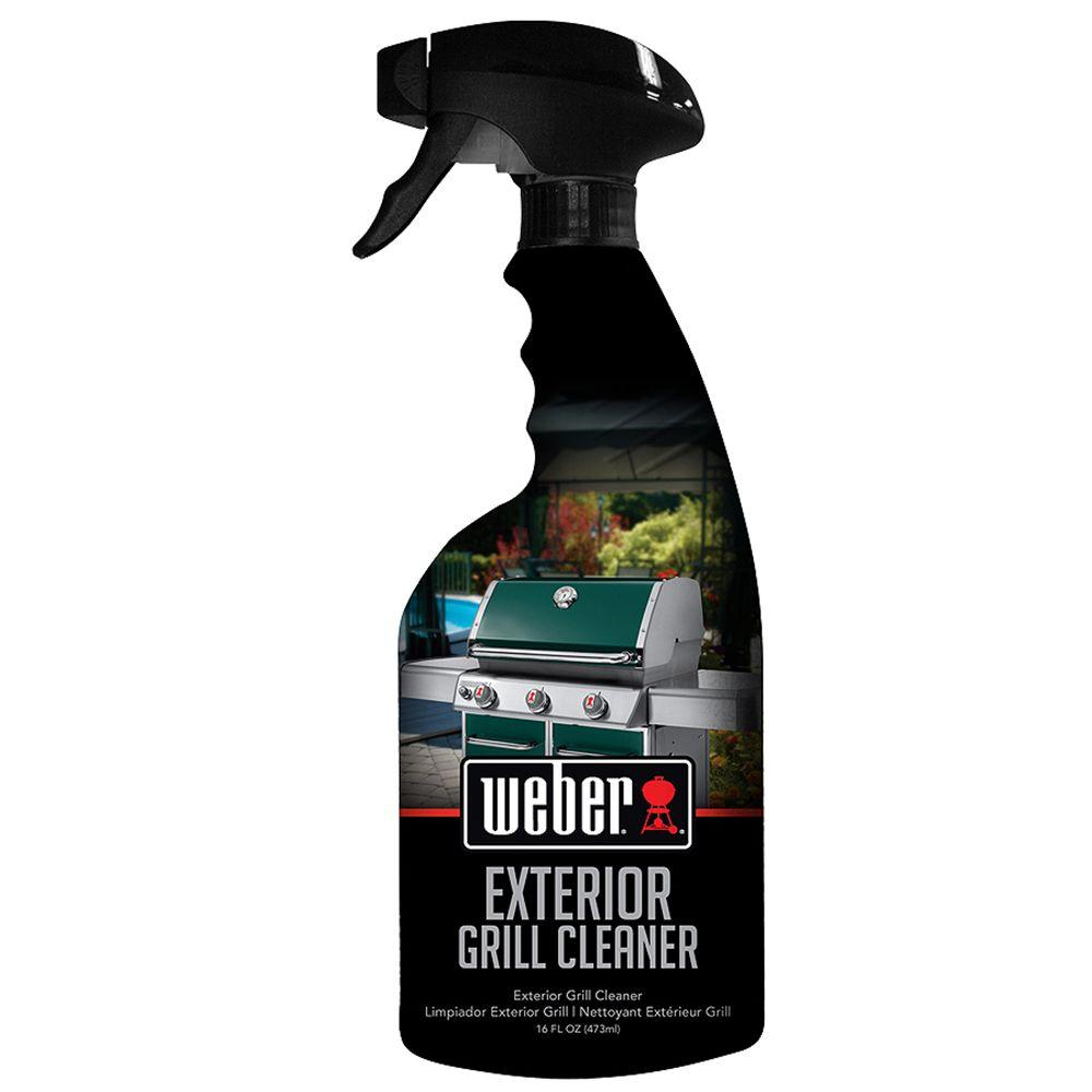 Weber 16 oz exterior grill cleaner w65 the home depot Weber exterior grill cleaner
