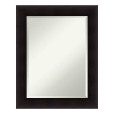 Portico 24 in. W x 30 in. H Framed Rectangular Beveled Edge Bathroom Vanity Mirror in Flat Espresso