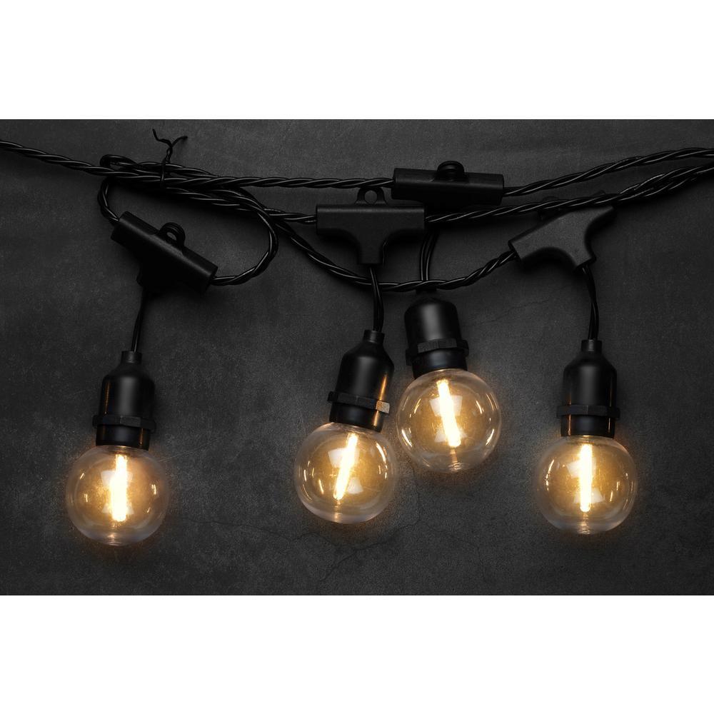 10-Light 10.5 ft. Globe Bulb Warm White LED String Light