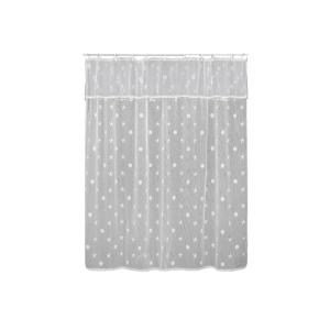 Heritage Lace Sand Shell inch White Shower Curtain by Heritage Lace