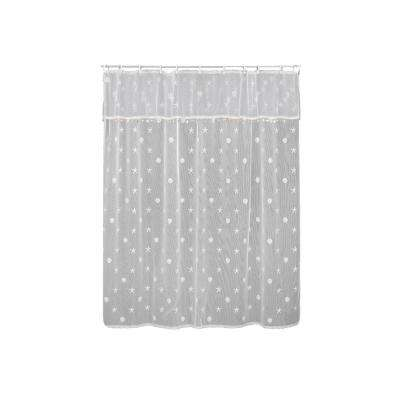 Sand Shell in. White Shower Curtain
