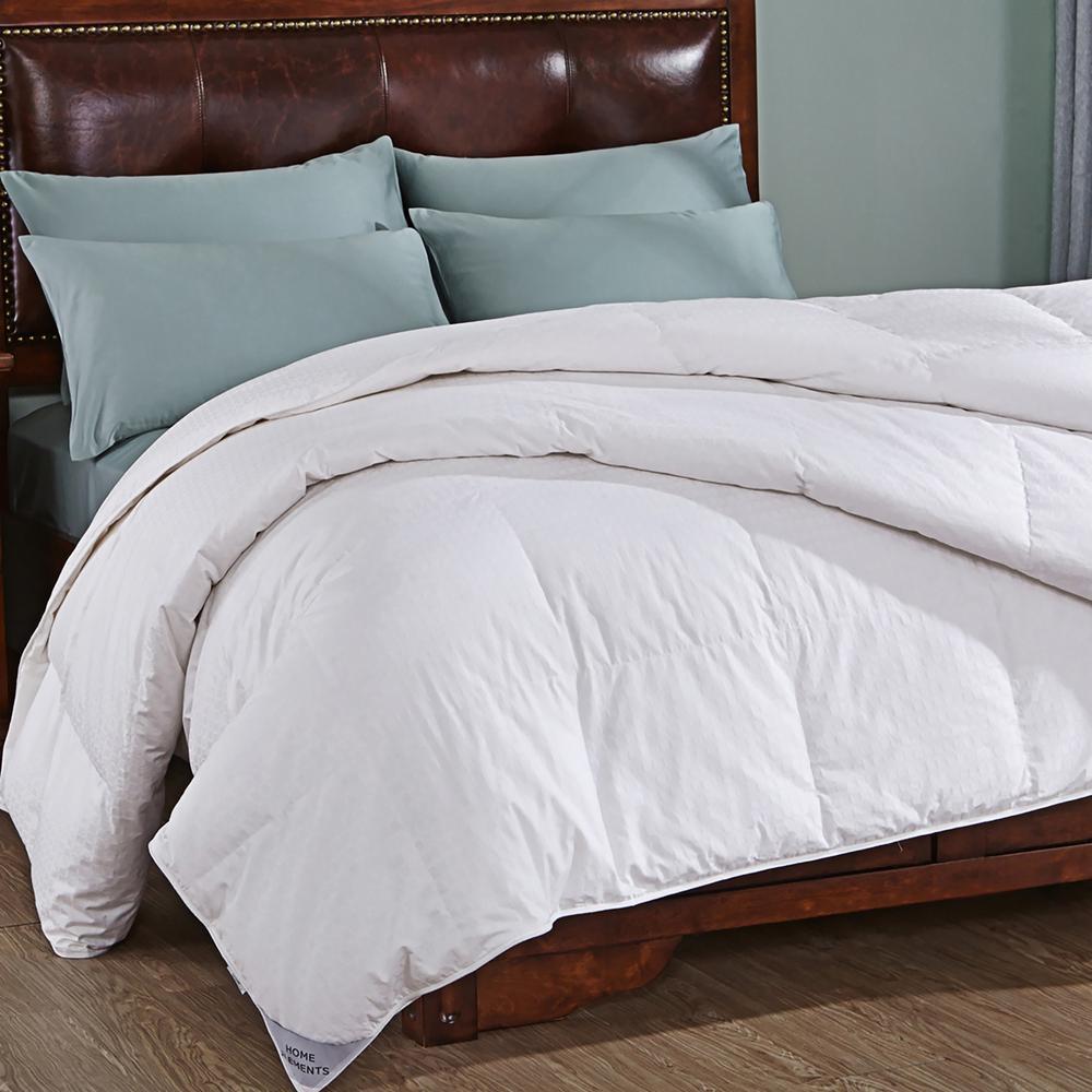 Luxurious Light Warmth White King Down Comforter