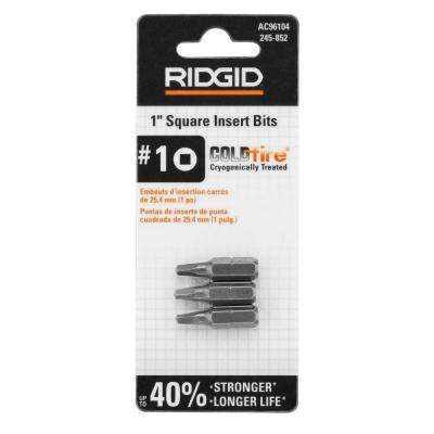COLDfire 1 in. Pro-Grade S2 Steel Square Insert Bits (3-Pack)