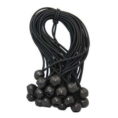 9 in. Ball Bungee Black (25-Pack)