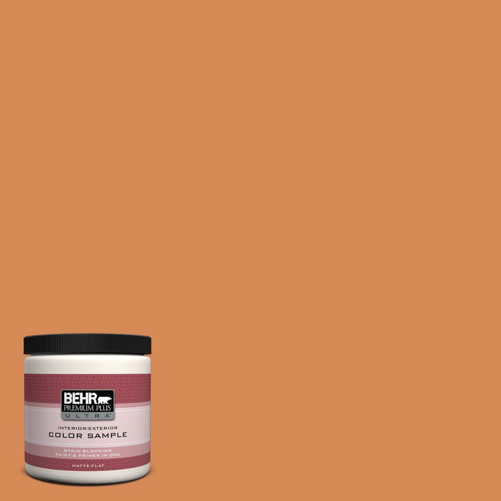 Well-known BEHR Premium Plus Ultra 8 oz. #PMD-80 Spiced Pumpkin Matte  QT52