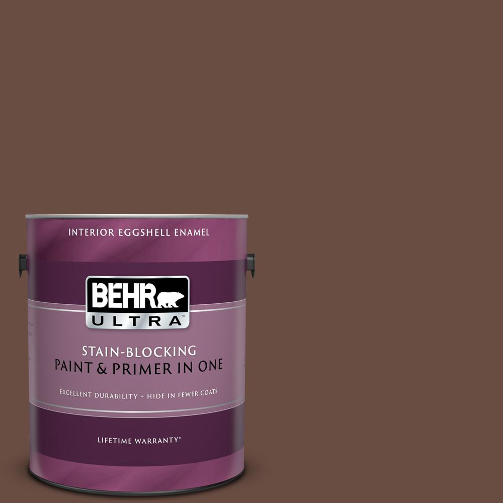 Behr ultra 1 gal mq2 05a authentic brown eggshell enamel - Behr ultra exterior paint reviews ...