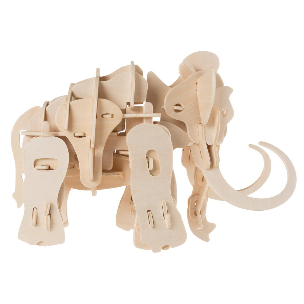 3D Wooden Wolly Mammoth Puzzle