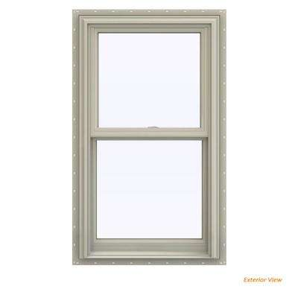 23.5 in. x 47.5 in. V-2500 Series Desert Sand Vinyl Double Hung Window with BetterVue Mesh Screen