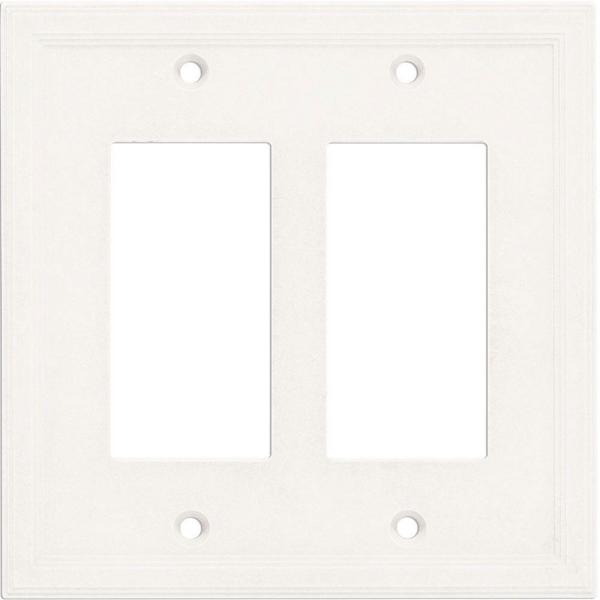 2 Gang GFCI Decorator Wall Plate - Bright White