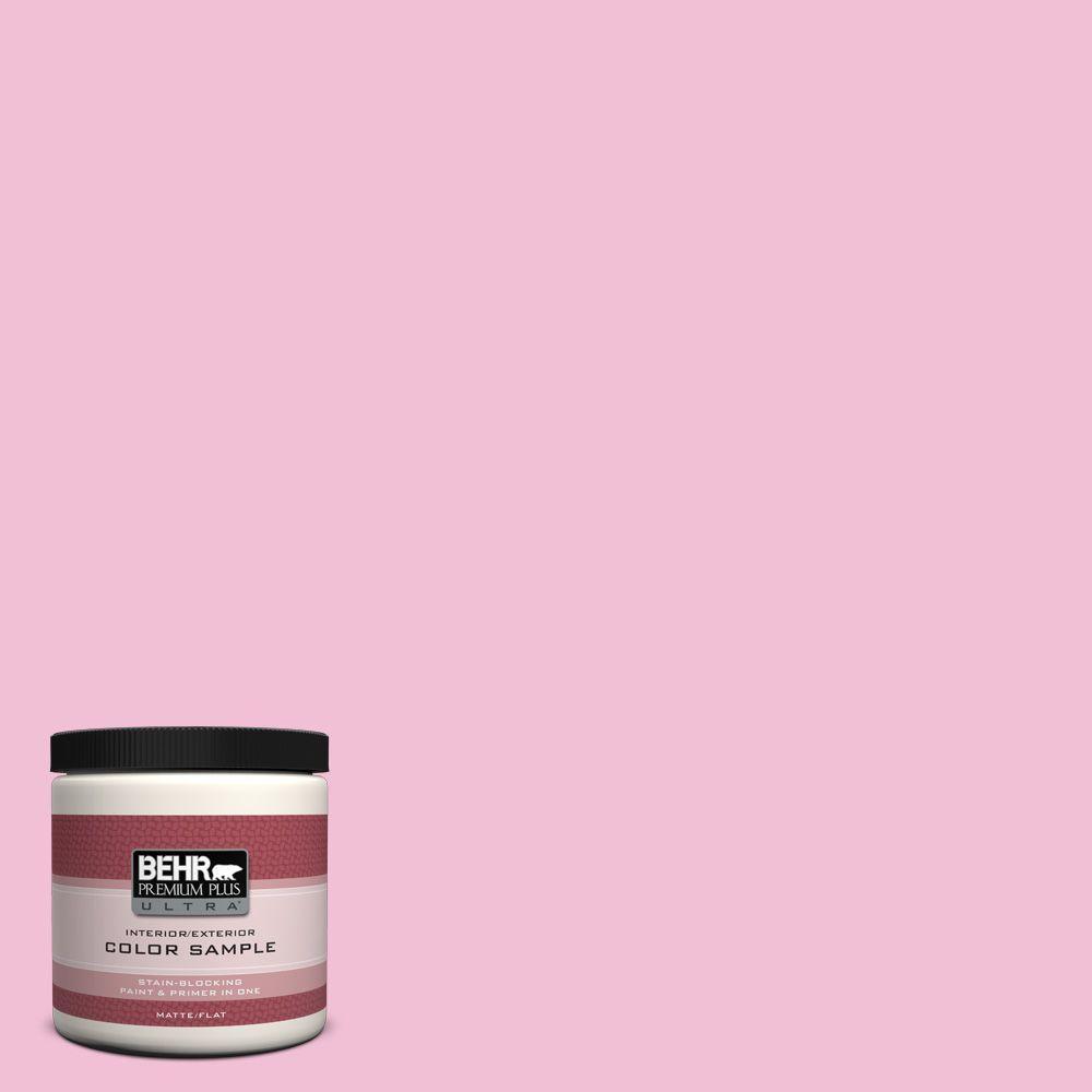 BEHR Premium Plus Ultra 8 oz. #100B-4 Pink Chintz Interior/Exterior Paint Sample