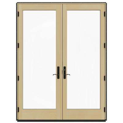 72 in. x 96 in. W-4500 Desert Sand Clad Wood Left-Hand Full Lite French Patio Door w/Lacquered Interior