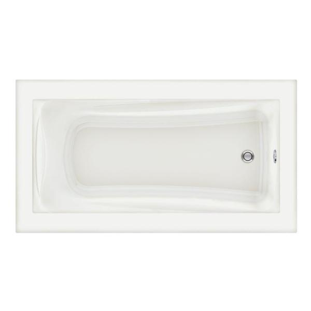 Green Tea 5.5 ft. x 36 in. Reversible Drain Soaking Bathtub in White
