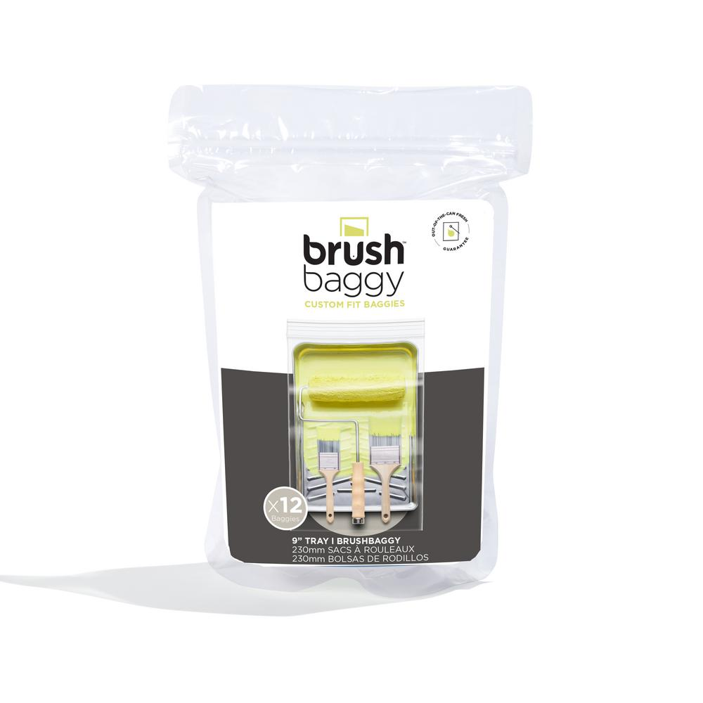 Brushbaggy Brushbaggy Pro Series Project Cube 9 in. Paint Tray Cover Zip Top Bag (15-Pack)