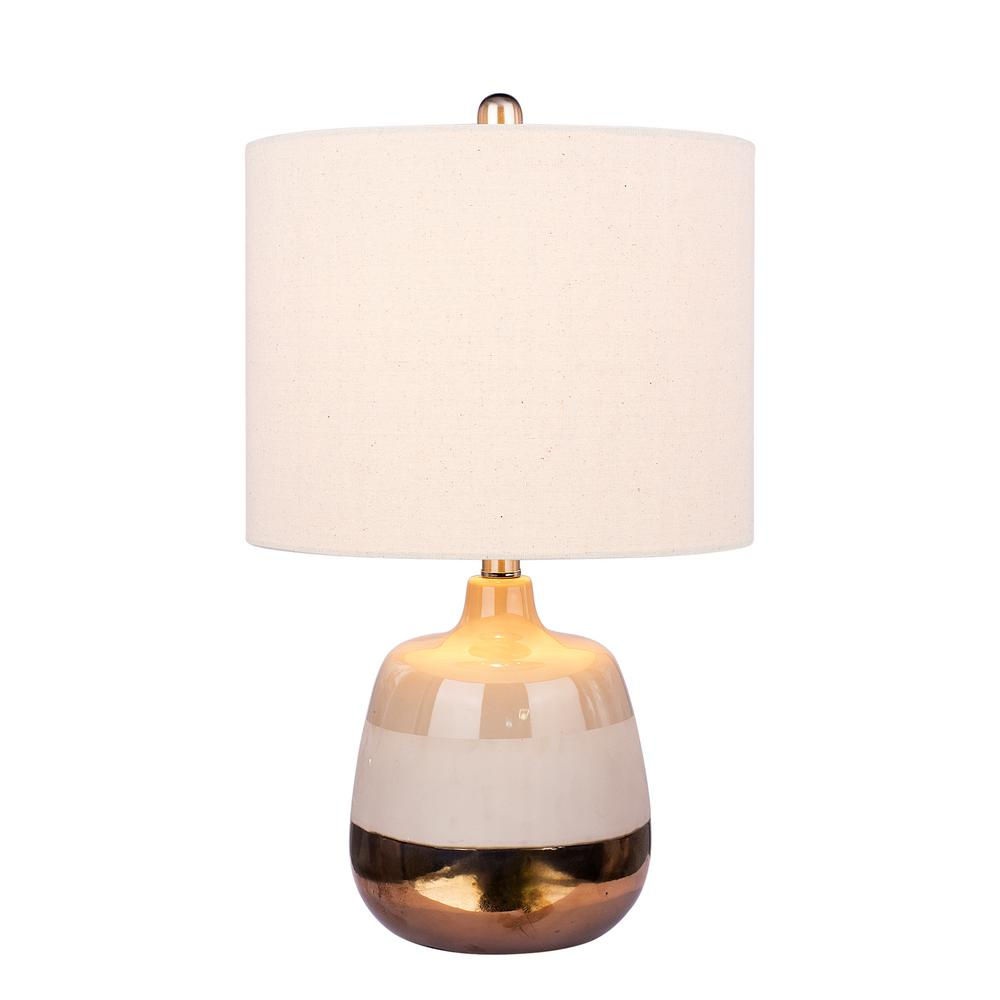 Fangio Lighting Modern 23 In Ceramic Table Lamp With 3 Tone Effect