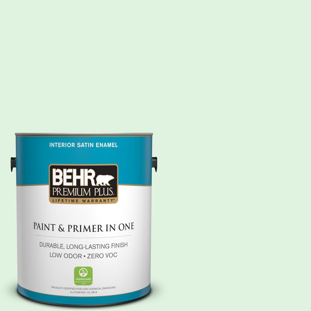 BEHR Premium Plus 1-gal. #P400-1 Mischievous Satin Enamel Interior Paint