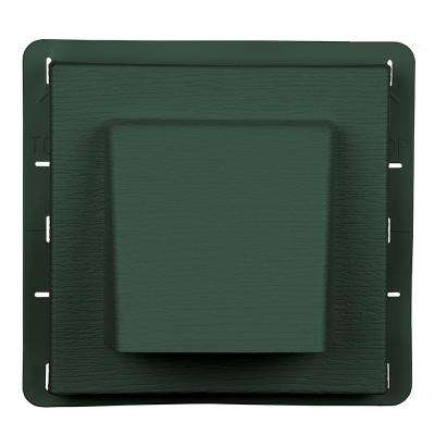 8 in. x 7.875 in Water Management 4 in. Hooded Vent in Forest Green