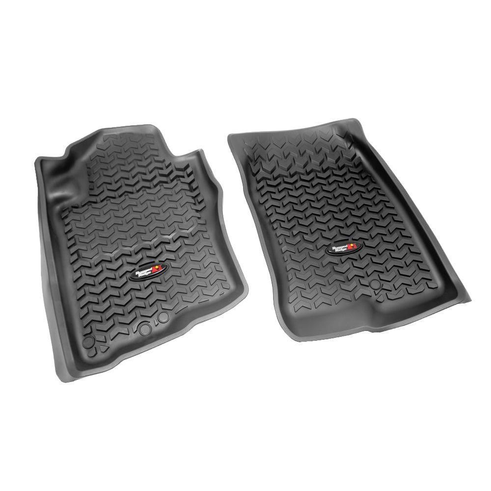 Rugged Ridge Floor Liner Front Pair Black 2005-2012 Nissan Terri and Pathfinder