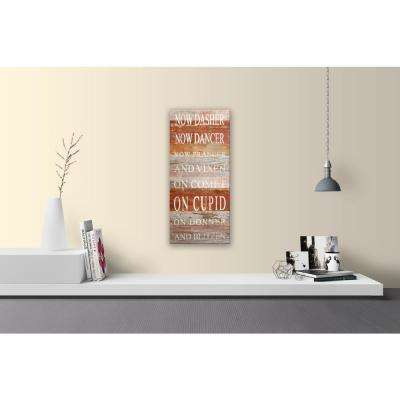 TWAS THE NIGHT BEFORE CHRISTMAS NOW DASHER Reclaimed Wood Decorative Sign