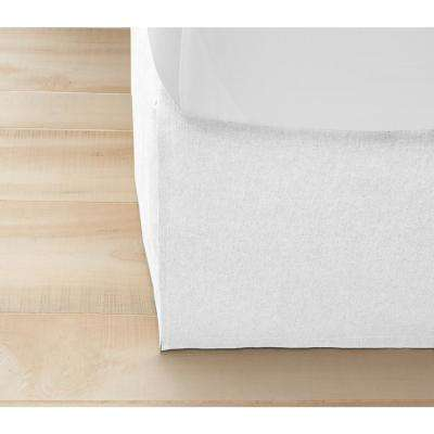 White Twill California King Bed Skirt
