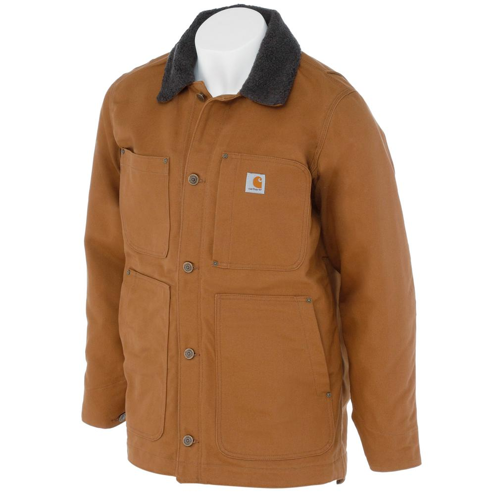 Carhartt Men's Regular Medium Carhartt Brown Cotton Full Swing Chore Coat