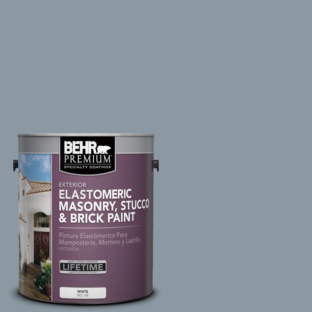 Behr Premium 1 Gal N490 4 Teton Blue Elastomeric Masonry Stucco And