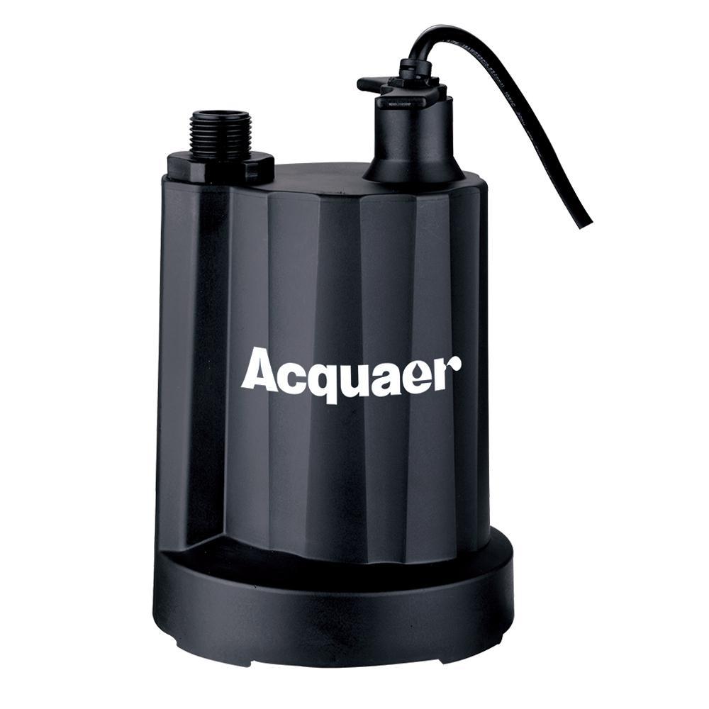 Acquaer 1/3 HP Submersible Plastic Utility Pump