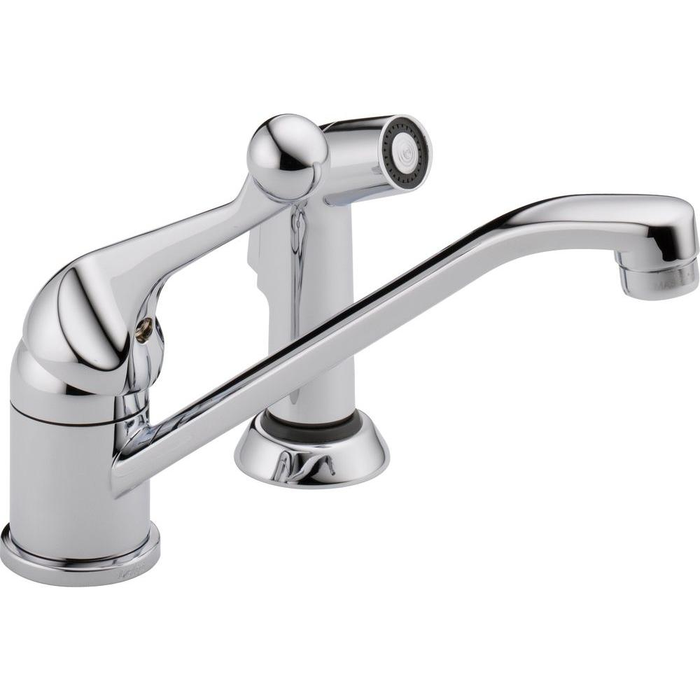 Delta Classic Single-Handle Side Sprayer Kitchen Faucet in Chrome ...