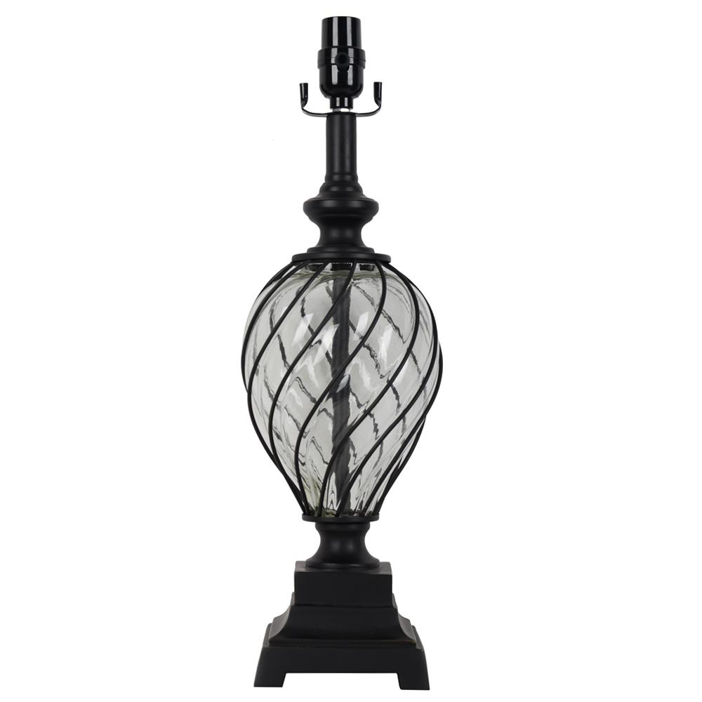Hampton Bay Mix and Match 20 in. H Oil Rubbed Bronze Glass ...