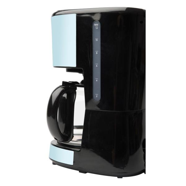 Haden Heritage 12 Cup Turquoise Retro Style Coffee Maker Programmable With Strength Control And Timer 75032 The Home Depot