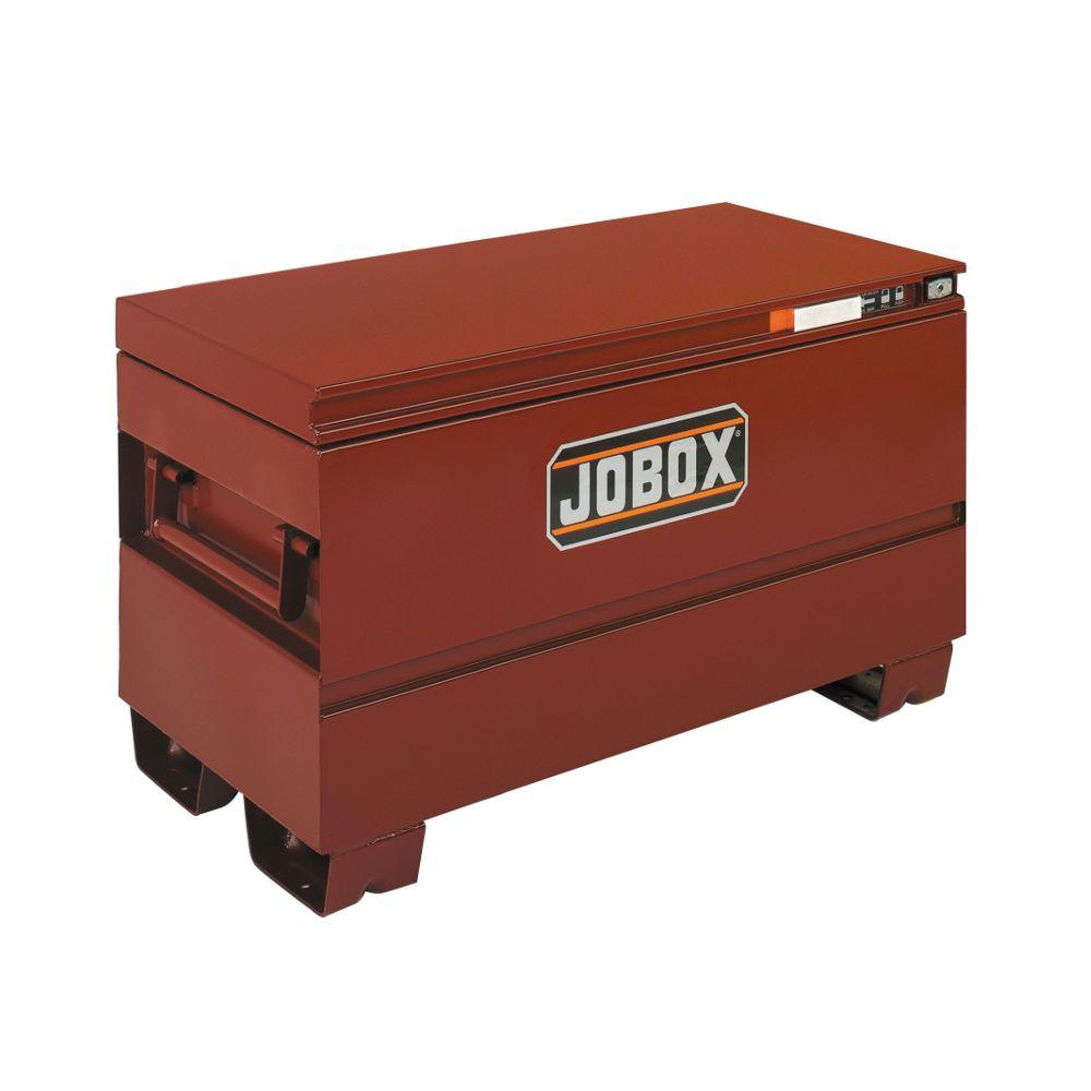 Jobox 42 in. Long Heavy-Duty Steel Chest with Site-Vault Security System