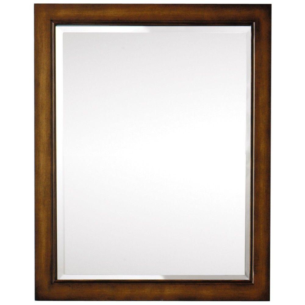 Home Decorators Collection Crete 40 in. L x 32 in. W Wall Mirror in Brown-DISCONTINUED