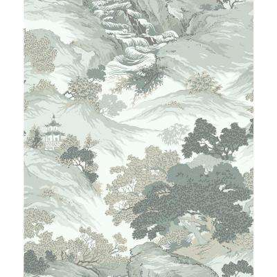 8 in. x 10 in. Ordos Light Green Eastern Toile Sample