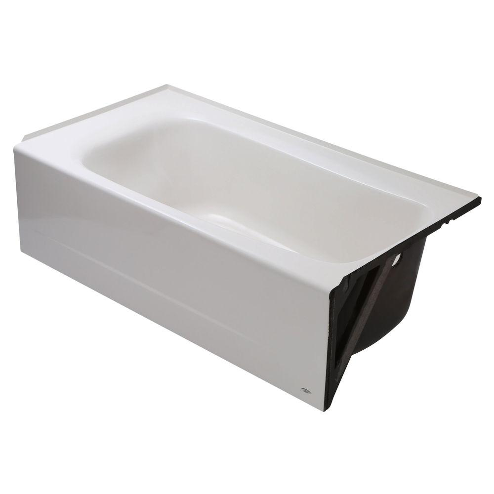 American Standard Cambridge 5 Ft. Americast Right Hand Drain Bathtub In  White 2461.002.020   The Home Depot
