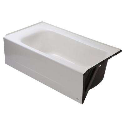Cambridge 5 ft. Americast Right-Hand Drain Bathtub in White