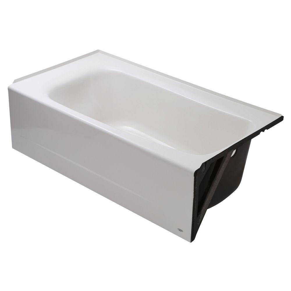 Cambridge 5 ft. Americast Right-Hand Drain Bathtub in White