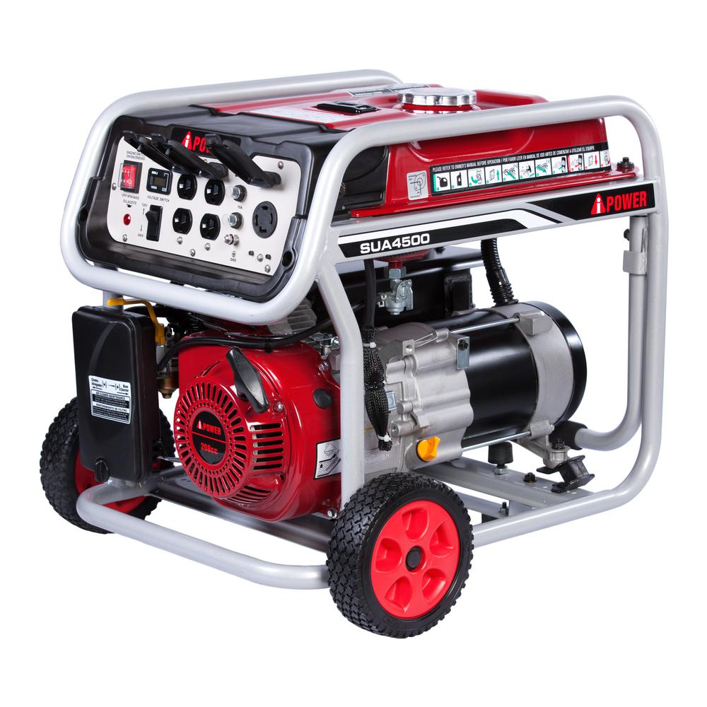 aipower 4500watt gasoline powered portable the home depot