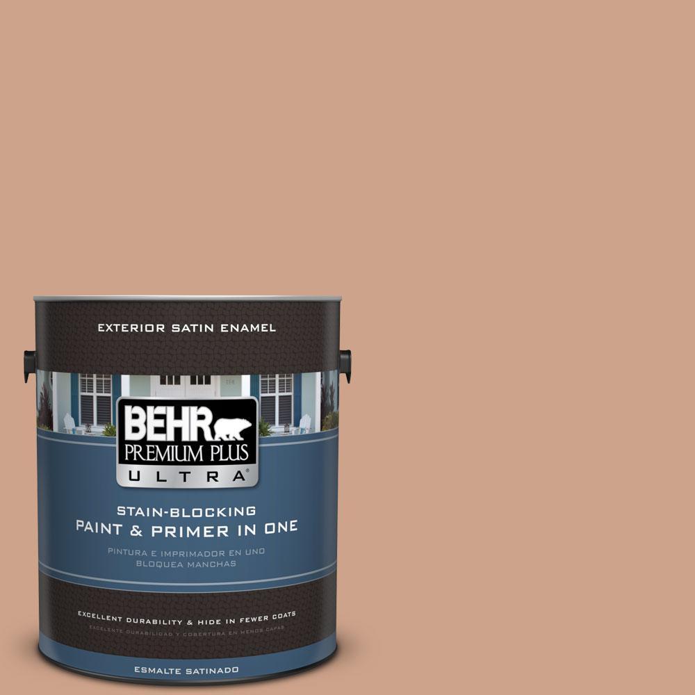 BEHR Premium Plus Ultra 1-gal. #PMD-76 Sienna Buff Satin Enamel Exterior Paint