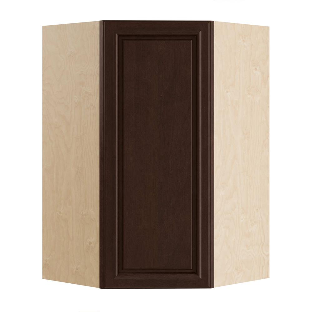 Home Decorators Collection Somerset Assembled 27x36x15 in. Single Door Hinge Right Wall Kitchen Angle Cabinet in Manganite