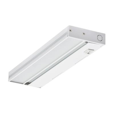 NUC 12 in. LED White Dimmable Under Cabinet Light with Link and Plug Port