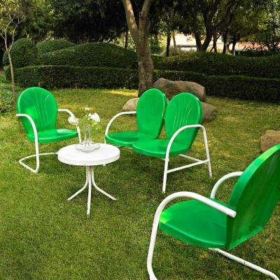 Griffith Green 4-Piece Metal Patio Conversation Set